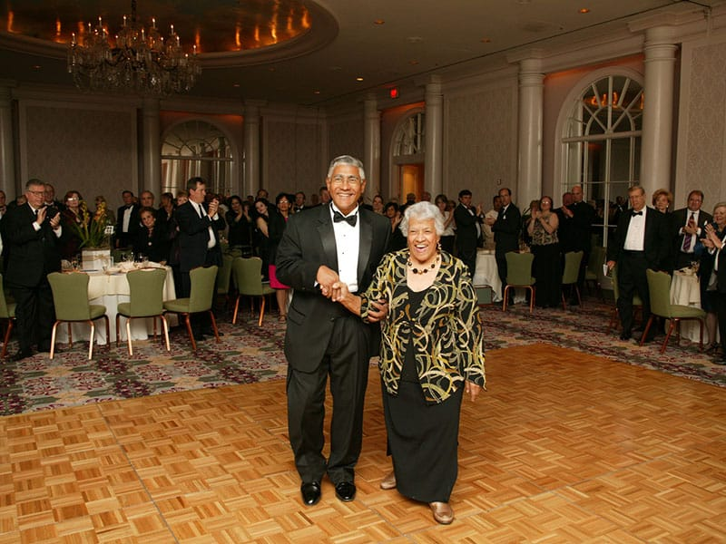 Leah Chase escorted by her son, Edgar Chase III, at the Southern Dominican Gala. Both Leah and I were honored with the Dominican Province of St. Martin De Porres Award in 2007 presented by Fr. Val McInnis.