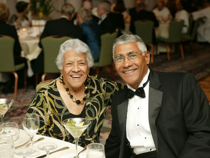 Leah and Edgar Chase III celebrating after the award presentation at the Southern Dominican Gala.