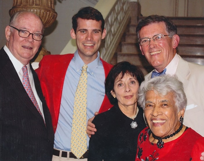 This group picture was taken after my opening ceremony speech at the New Orleans Museum of Art Leah Chase Art Exhibit Vernissage Event. (L to R) Me, Matthew Waldron, Pam Waldron, Judge Dennis Waldron, and Leah Chase.
