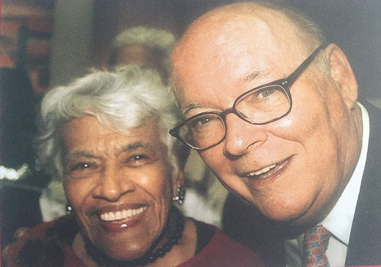 Leah Chase and I at the New Orleans Museum of Art-Leah Chase Art Exhibit Vernissage Event. This picture and the above caption was used as the front cover of my 2012 Christmas card.