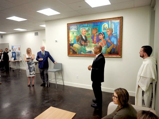 Terrance talks about the creative and spiritual inspiration for the painting of Fr. Val A. McInnis.
