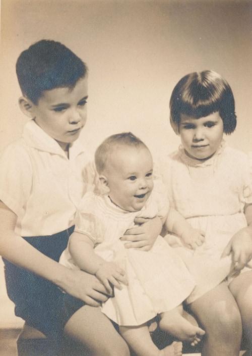 Me, baby sister Elizabeth, and sister Keenan.