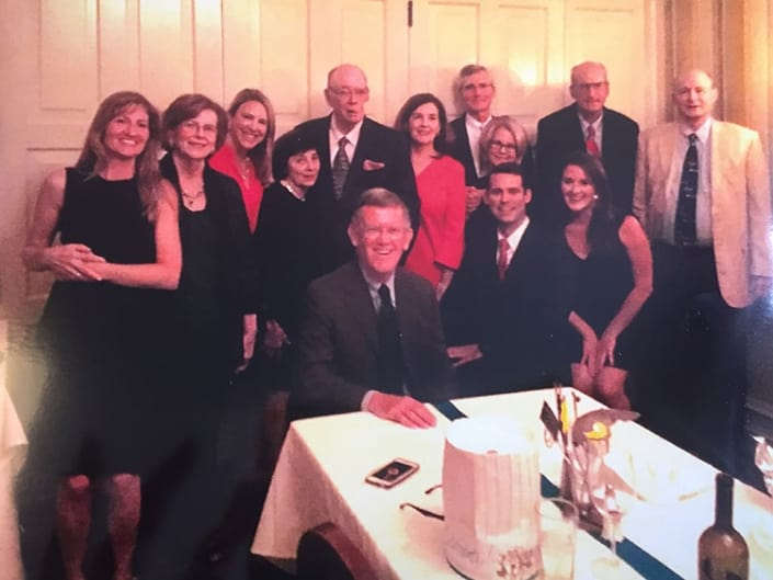 Celebrating my 76th Birthday Party at Commander's Palace in the Coliseum Room with many dear and wonderful family and friends.